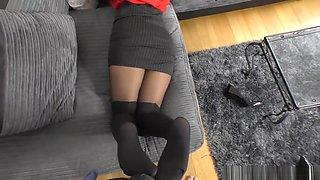 Secretary Boss Gives You A Pantyhose Footjob - Cassie Clarke