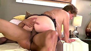 Granny Enjoys Hardcore Sex With a Big Cock