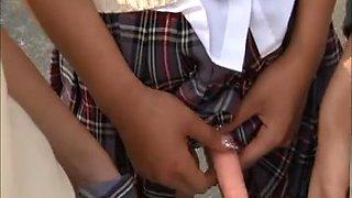 Japanese strapon schoolgirls