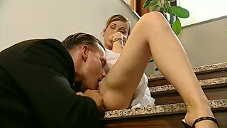 italian blondie anally drilled