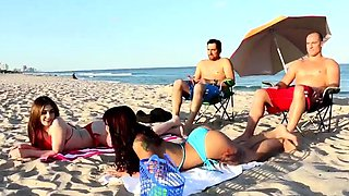 Teen after school and older men gangbang Beach Bait And Swit